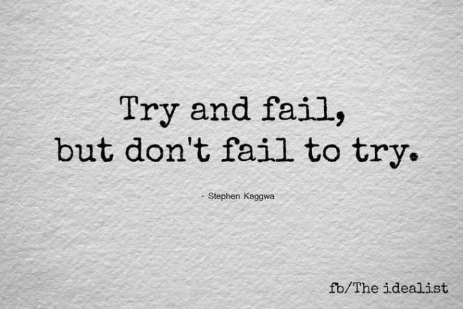 Try and fail...